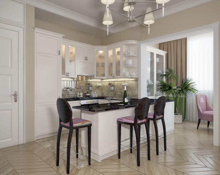 Дизайн и оформление просторной кухни