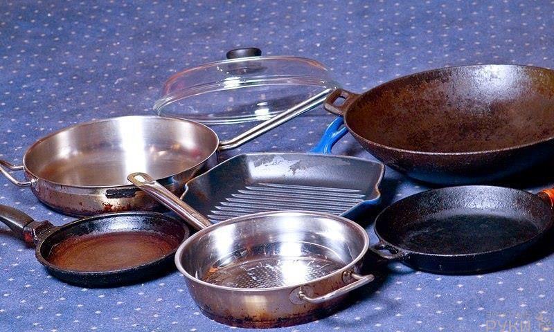 Чистим сковородки 8212 лайфхак🔴 Чистим сковородки лайфхак