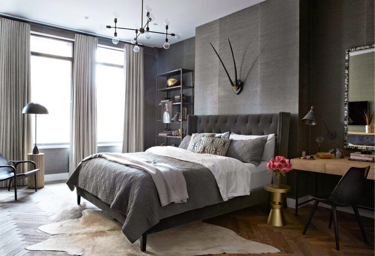 Дизайн мужской спальни в примерах🔴 Красивая спальня элементы оформления