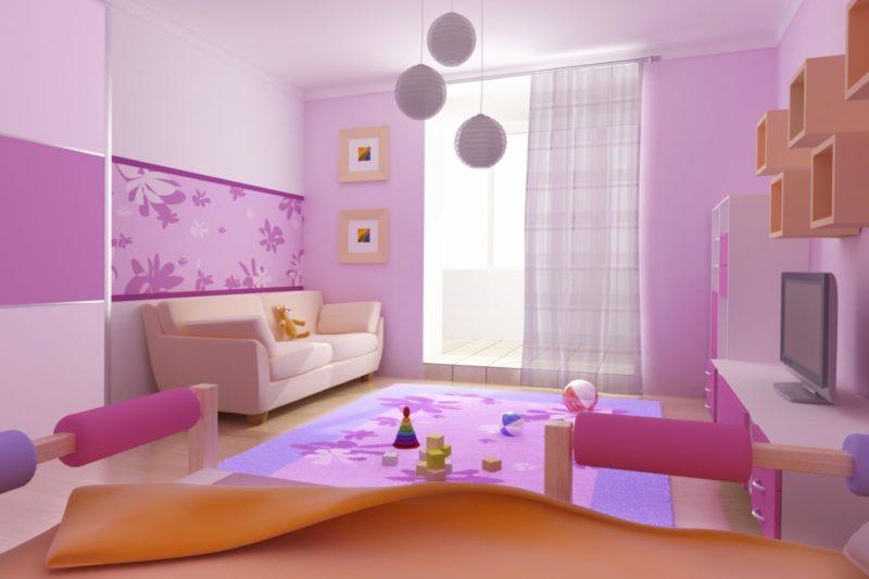 Подборка вариантов дизайна детской комнаты для девочки🔴 Подборка вариантов дизайна детской комнаты для девочки