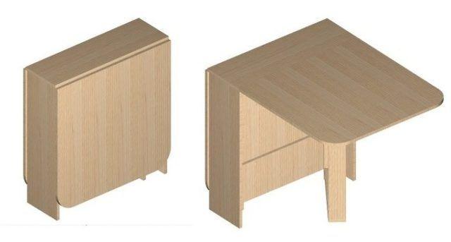 Складной столик для небольшой кухни