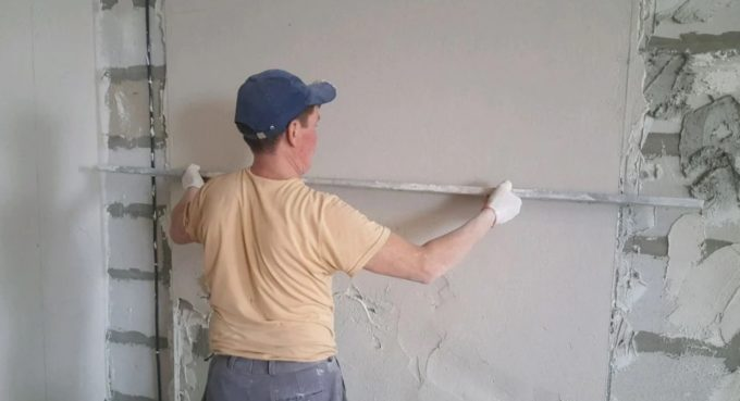 Стяжка и штукатурка стен дома своими руками 🔴 Стяжка и штукатурка стен дома своими руками