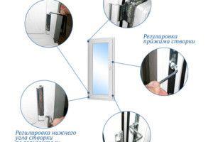 Как отрегулировать пластиковую балконную дверь или окно