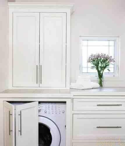 Как скрыть стиральную машину Скрыть за дверцами тумбы