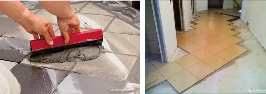 Как уложить плитку по диагонали 🔴 Как уложить плитку по диагонали 🔴