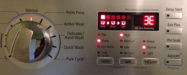 таблица кодов ошибок стиральных машин