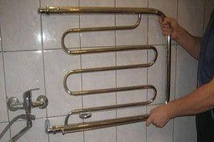 Установка полотенцесушителя без стоячных труб