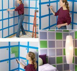 Полосы и клетки, как разлиновать стену?