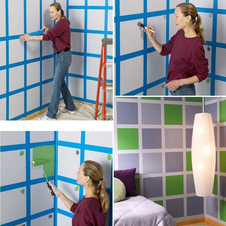 Полосы и клетки как разлиновать стену🔴 Полосы и клетки как разлиновать стену