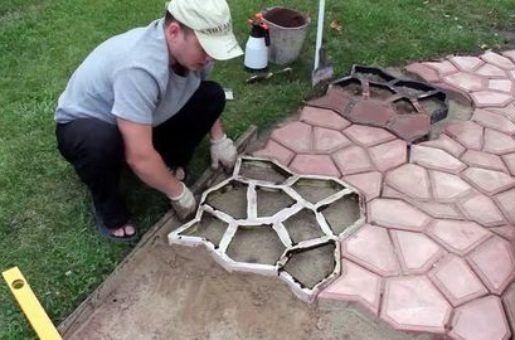 Форма из силикона для садовой дорожки своими руками