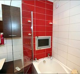установка телевизора в ванной