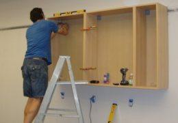Как повесить шкафы - советы профи