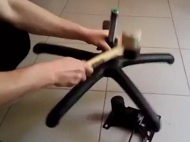 Как снять газлифт офисного кресла