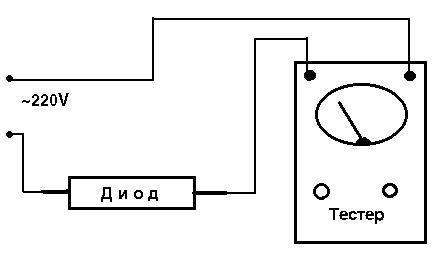 схема проверки высоковольтного диода магнетрона