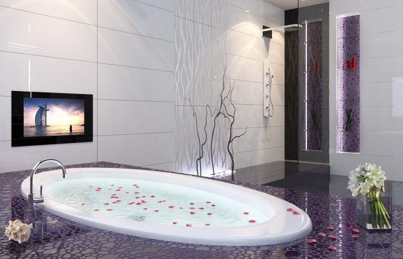 Как разместить телевизор в ванной