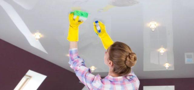 Как ухаживать за натяжными потолками🔴 Как ухаживать за натяжными потолками