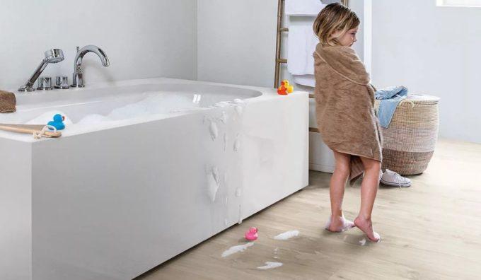 Вместо кафеля в ванной влагостойкий ламинат 🔴 Вместо кафеля ламинат