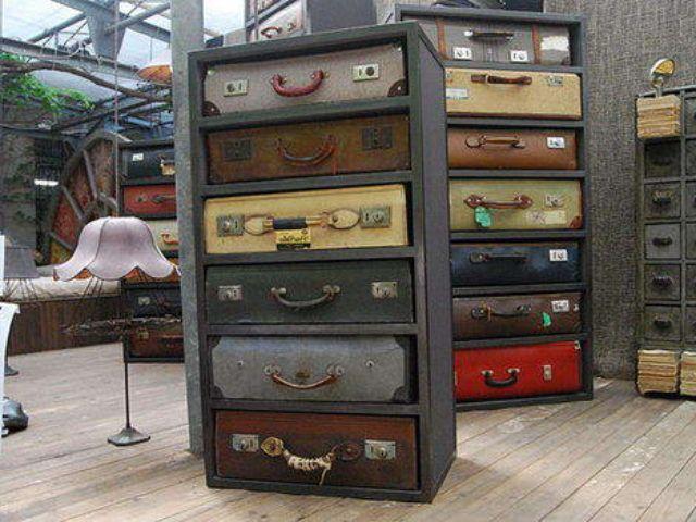 Новая жизнь старого чемодана — фотоподборка 22