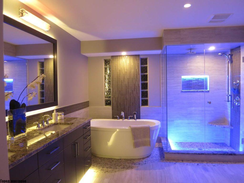 подсветка ванной светодиодной лентой