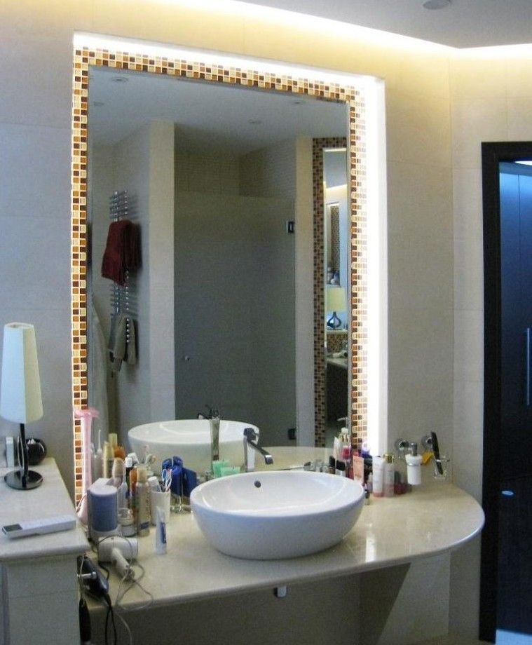 освещение ванной светодиодной лентой