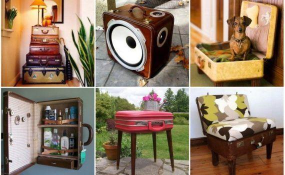 Новая жизнь старого чемодана - фотоподборка - Лайфхак - хитрости и неожиданные советы на Город мастеров 12