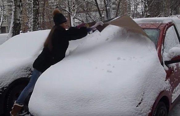 Накидка от снега 8212 лайфхак для машины🔴 Накидка от снега лайфхак для машины