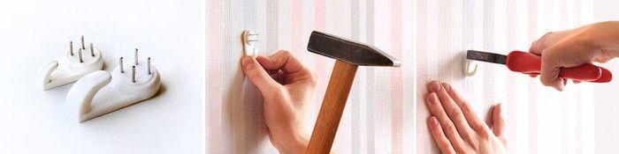 один из способов крепления рамки на стене крючок-паук