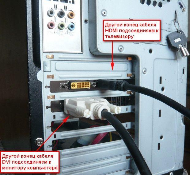 Как подключить телевизор к компьютеру через HDMI кабель🔴 Как подключить телевизор к компьютеру через HDMI кабель