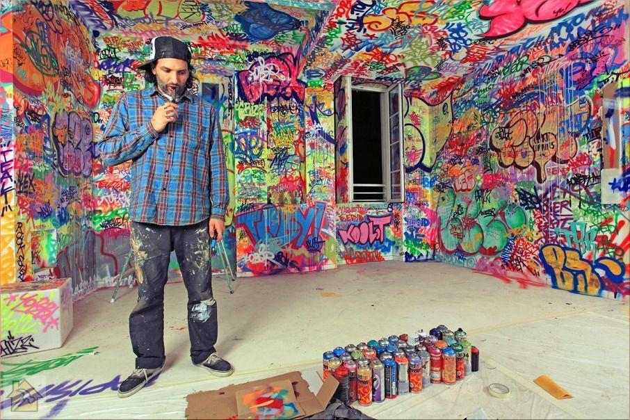 Граффити в интерьере 8212 своими руками 🔴 Граффити в интерьере своими руками