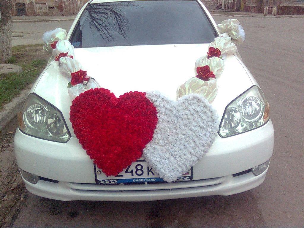 Большое сердце на Свадьбу из органзы с розами. Мастер