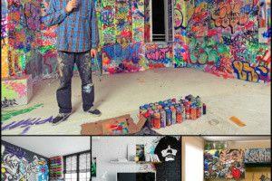 Граффити в интерьере - своими руками