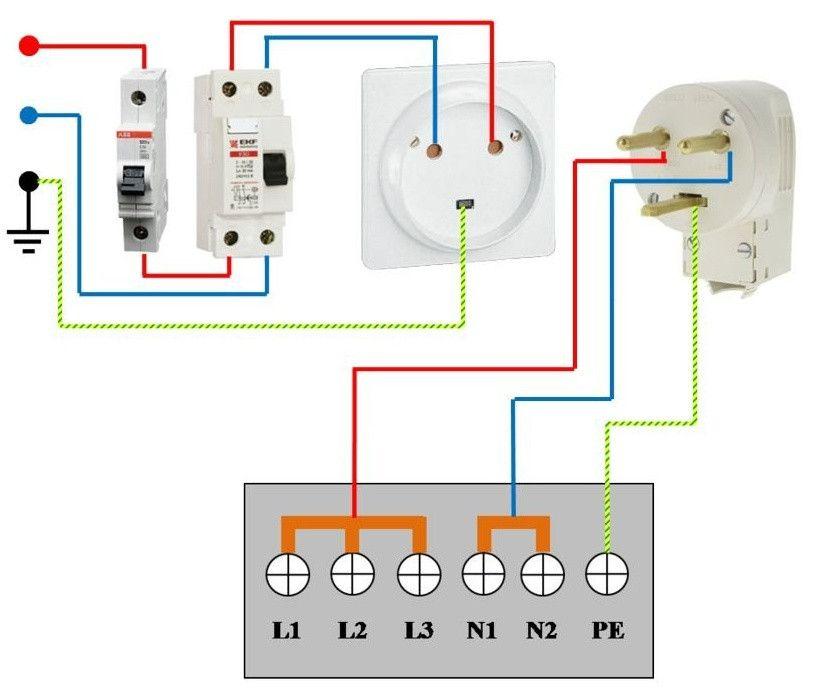 электрическая схема подключения плиты на 220