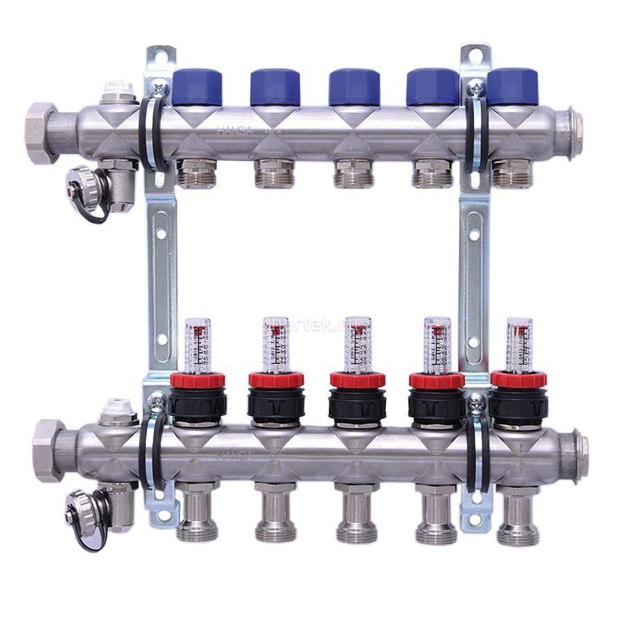 схема обвязки коллекторов теплогопола