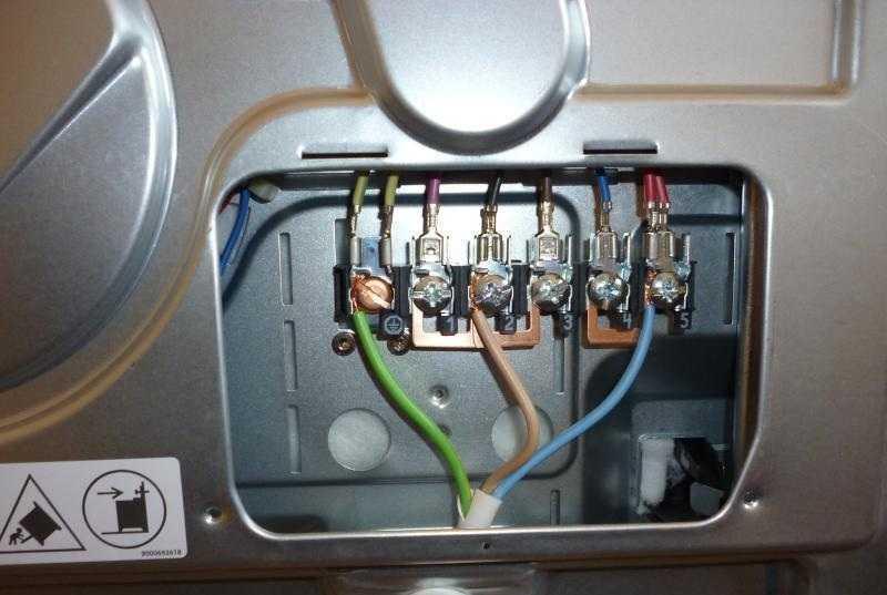 клеммы на задней панели электроплиты