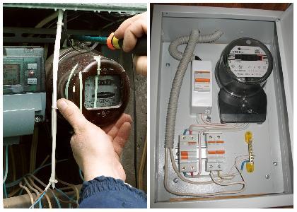 замена и подключение электросчетчика