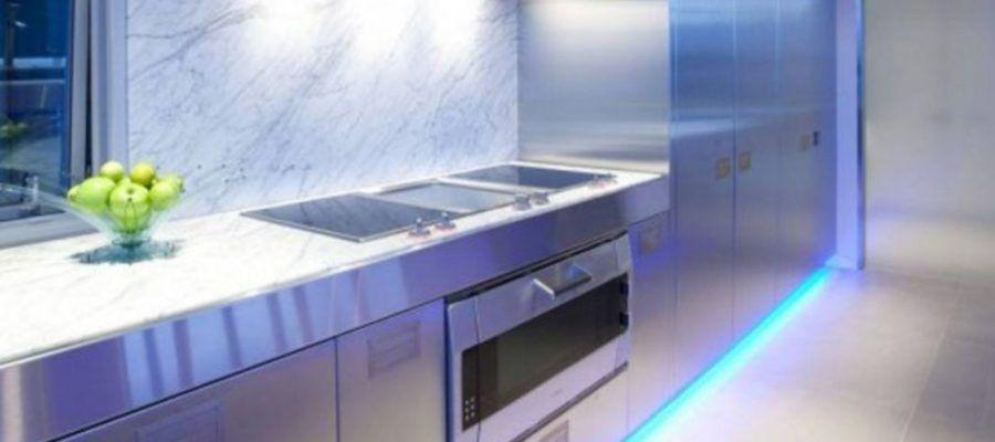 подсветка зоны готовки светодиодной лентой