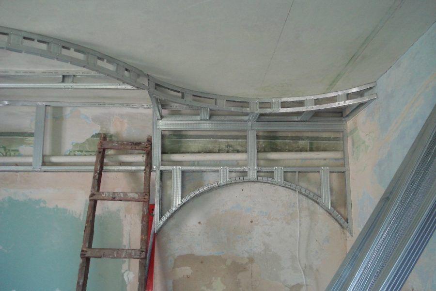 Изготовление перегородоки и потолка из гипсокартона