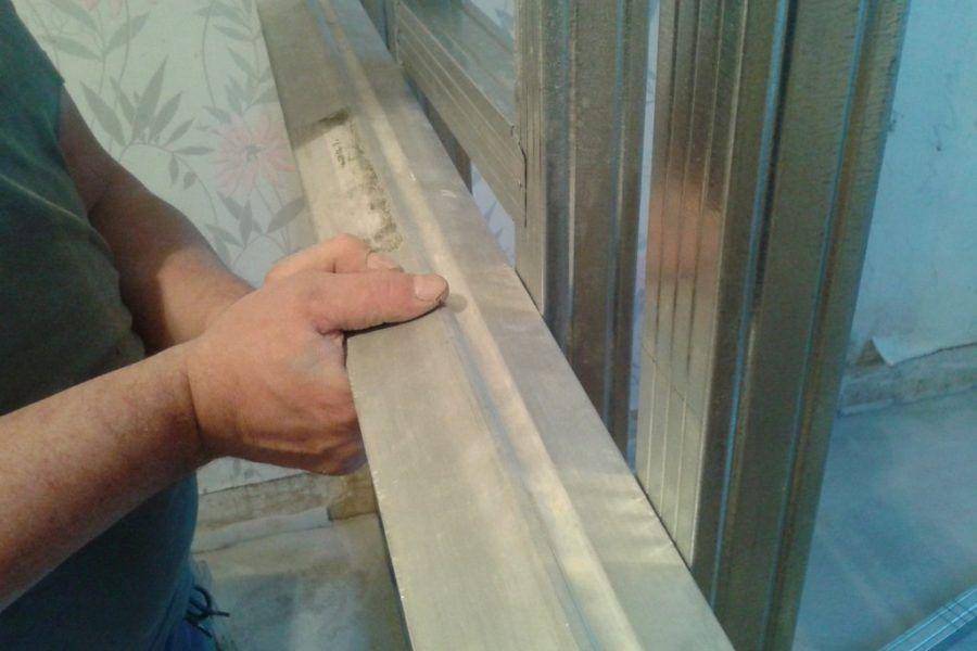 Изготовление стены из гипсокартона