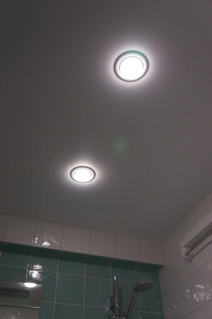 ремонт санузла установка точечных светильников
