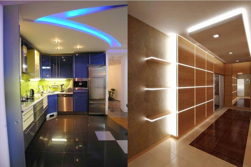 светодиодное освещение кухни и прихожей