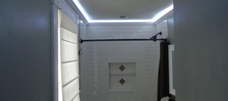 освещение в ванной светодиодной лентой