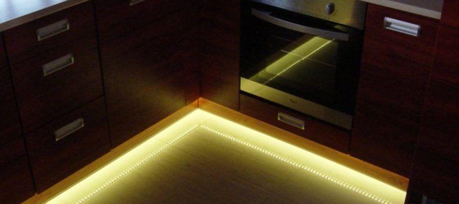подсветка на кухне светодиодной лентой