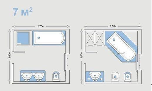 Варианты перепланировки ванной комнаты