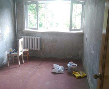 ремонт квартиры (труда,56) стяжка полов