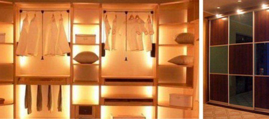 подсветка шкафа-купе светодиодной лентой