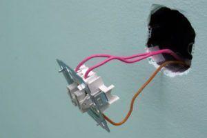 услуги электрика установка выключателя