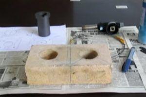 разметка муфеля для плавки в микроволновке
