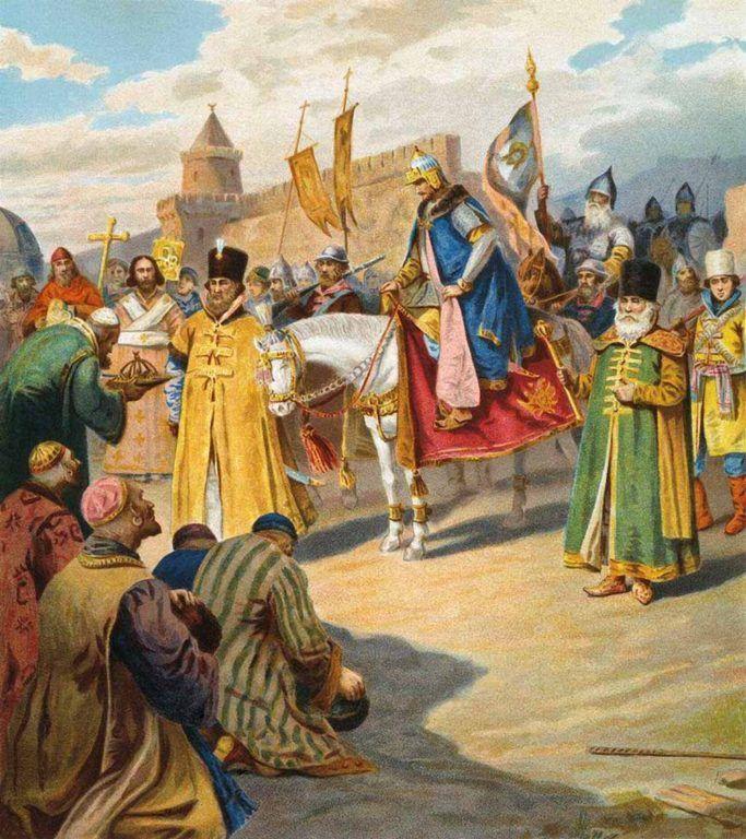 В октябре 1552 года войско Ивана Грозного взяло столицу татарского Казанского ханства, город Казань.