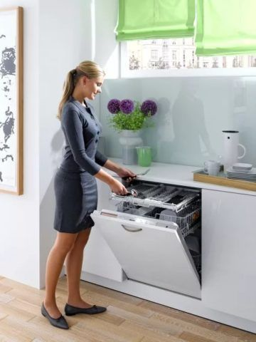 Стандартная полно размерная посудомоечная машина