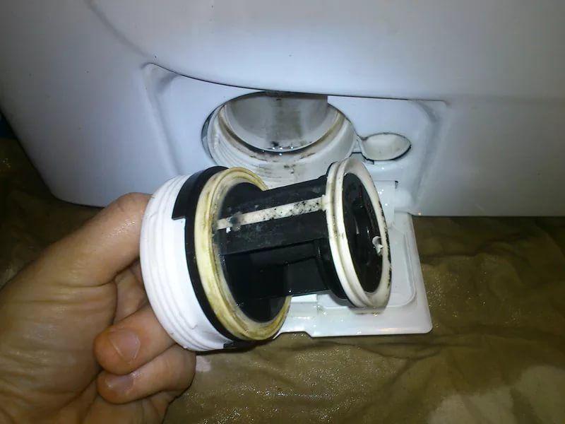 засор фильтра стиральной машины